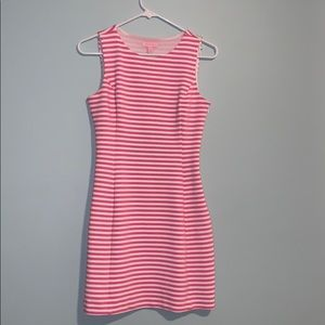 Lilly Pulitzer Pink and White Striped Shift Dress